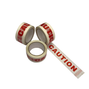 Sturdy high quality adhesive red & white caution tape