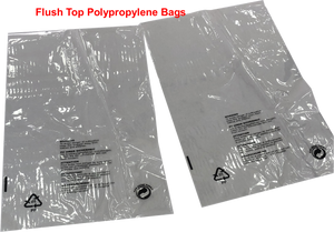 Polypropylene Flush Top Bag Retail Presentation, Clothes Packaging With Printed Warning Notice