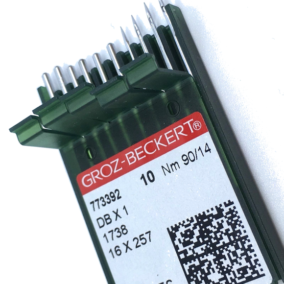 Quality Groz-Beckert industrial sewing needles 1738A, 16x231, DBx1, 16x257