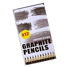 Assorted Graphite Pencils for Artists, Designers, Design students used on a wide range of material.