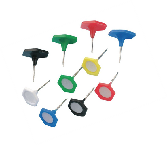 Coloured Indicator Pins Hexagonal Write on Panel With Hard Steel Wire Pin