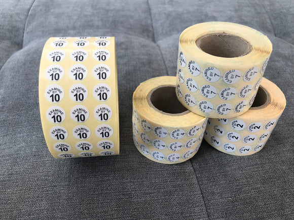 Peelable Paper Cloth Size Label | Product Finishing | Quality Control