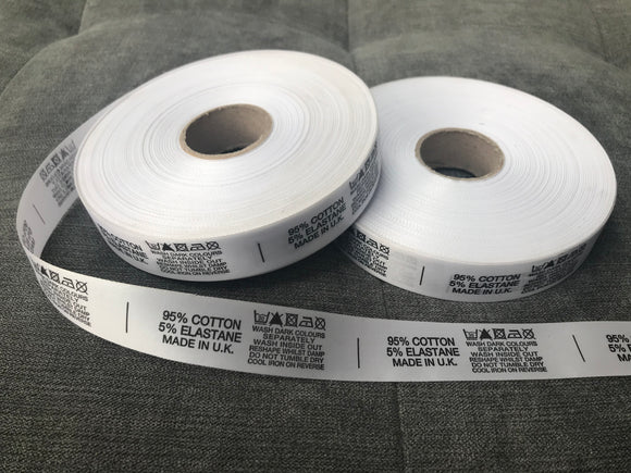 Content Labels | Satin | Clothing, Garment Manufacturing