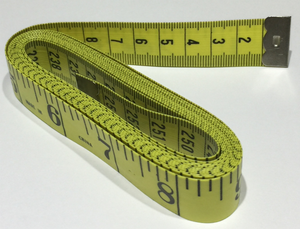 Super Long Tape Measure metric measurements on one side and imperial on the other. Tailoring, Dressmaking, Design