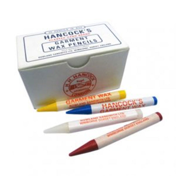 Box of 25 Hancock's Garment Marking Wax Pencils