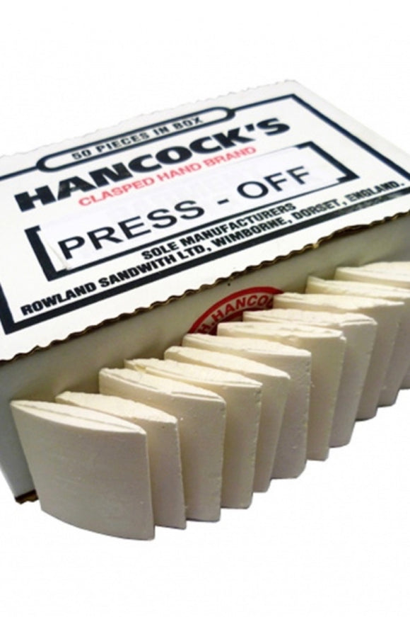 Hancock's Press Off Chalk, Box Of 50. 50mm - Length x 38mm - Width
