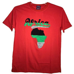 Africa Colors Thick Puffy Short Sleeves T-Shirt For Men and Woman