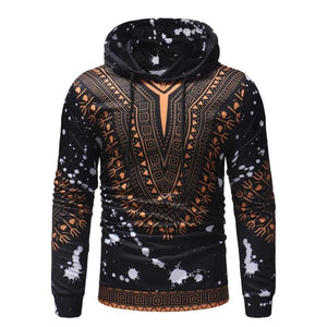 African Dashiki hoodie Pullover 3D Printed Outwear jacket