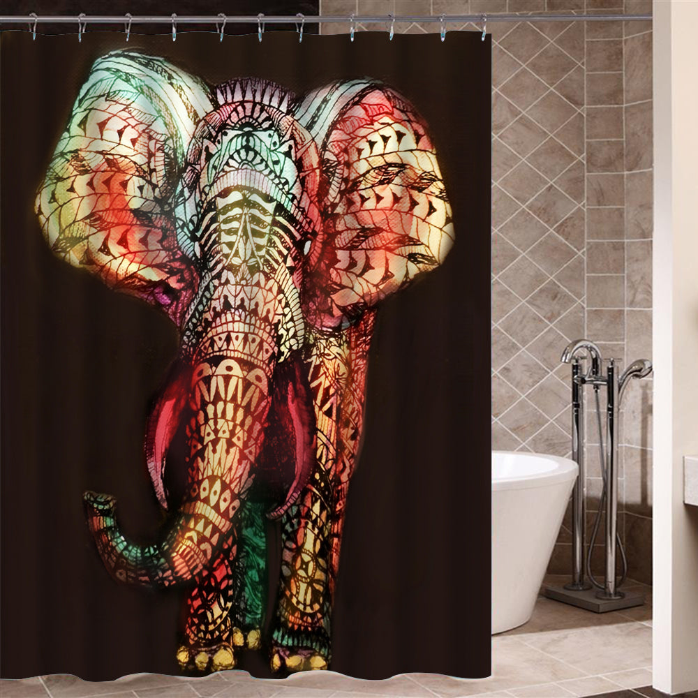 Graffiti Art Modern Design African Shower Curtain for Bathroom Decor Plus
