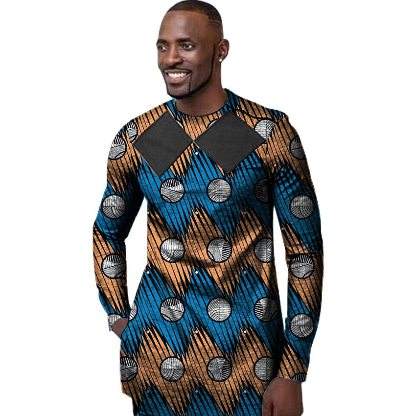 Customized Mens' Dashiki fashion long sleeve African attire
