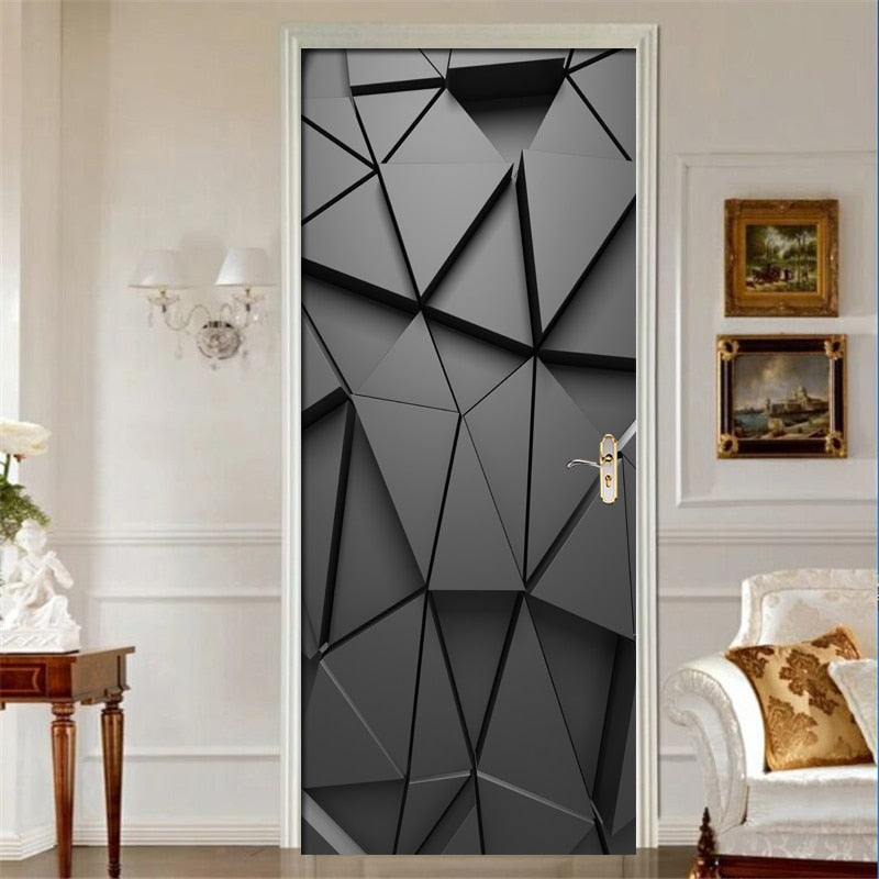 Door Stickers DIY 3D Mural For Living Room Bedroom Home Decor Waterproof Decals