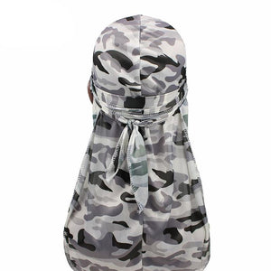 Camouflage Print Silky Durags For 360 Degree Waves