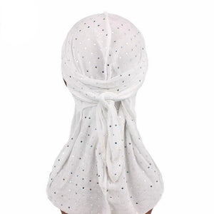 Sparkly Velvet Du-rags with Crystals