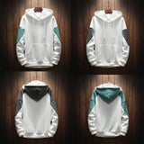 Mens Streetwear Pure Color Pullover Long Sleeve Hoodie