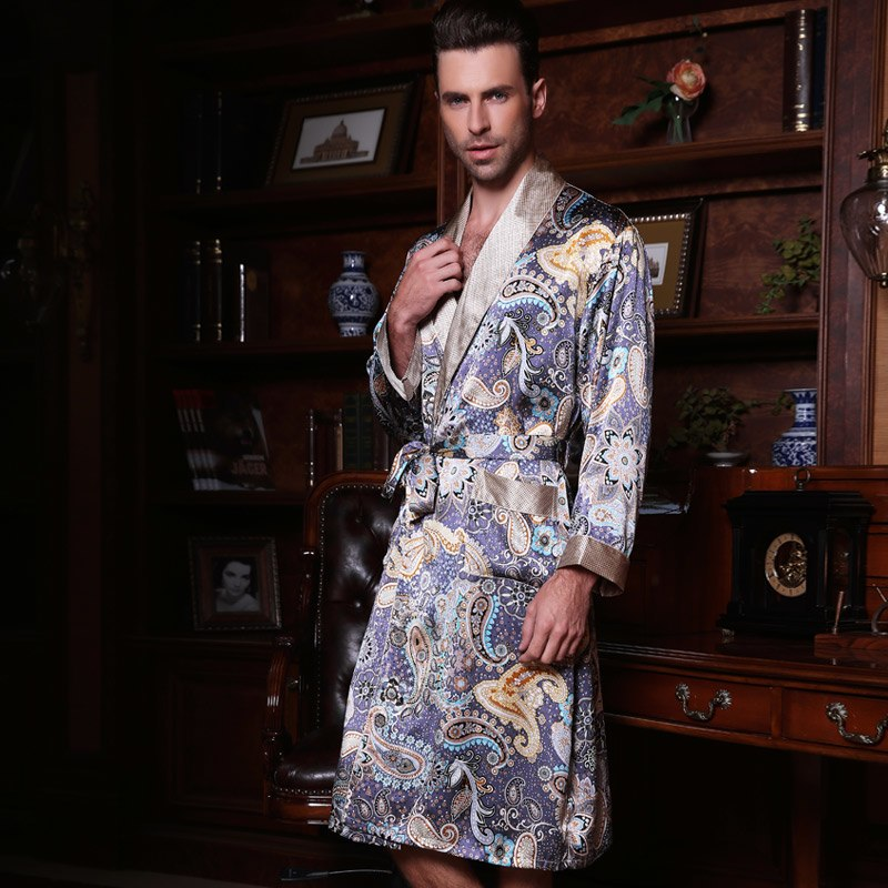Genuine Silk Long-Sleeve Robe