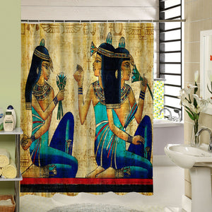 High Quality Custom Waterproof African Woman Shower Curtain