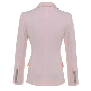 TOP QUALITY Star Designer Blazer For Women With Silver Lion Buttons