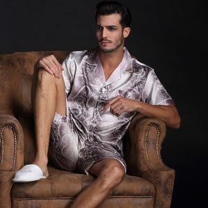 Men's Comfortable Autumn Silky  Pajama Set