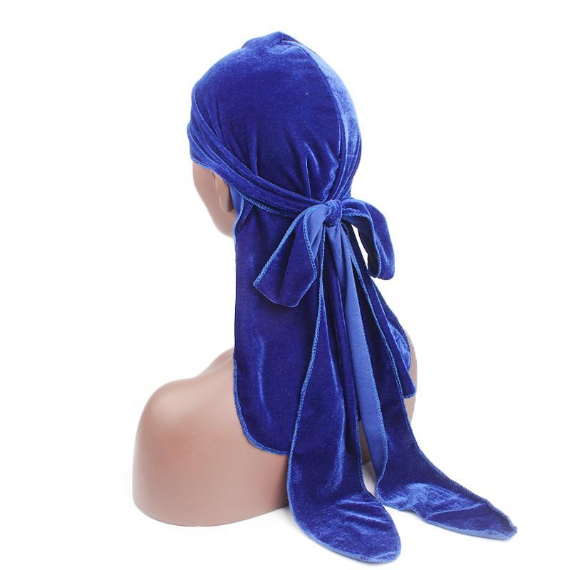 Velvet Du-Rag with long Ties