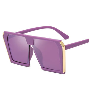 Vintage Big Square Sunglasses Women 2019 Oversized Luxury Brand Cateye Sun Glasses UV400