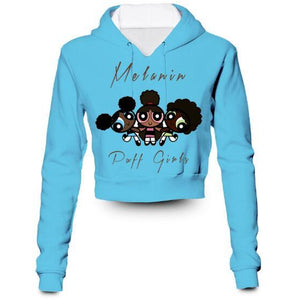 Custom Made Melanin Power Puff Girls 3D Crop Hoodie