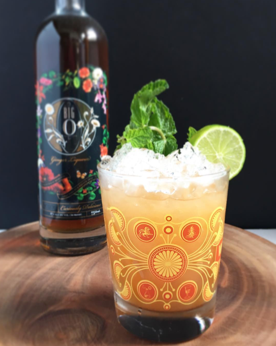 Rum Craft Cocktail with Big O Liqueur by Mike Yoshioka (@mmydrinks)