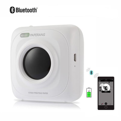 Imprimante thermique photo portable bluetooth 4.0 sans fil pour smartphone