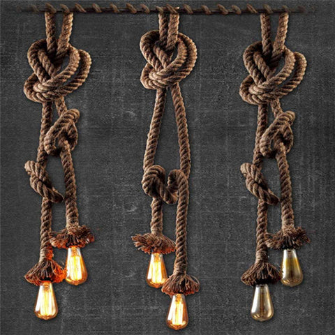 Suspension cordage vintage chanvre