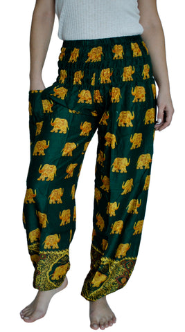 Bodhi Green Harem Elephant Pants