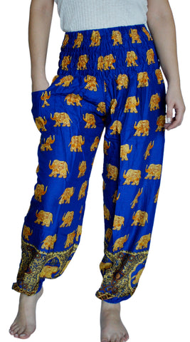 Bodhi Royal Blue Harem Elephant Pants