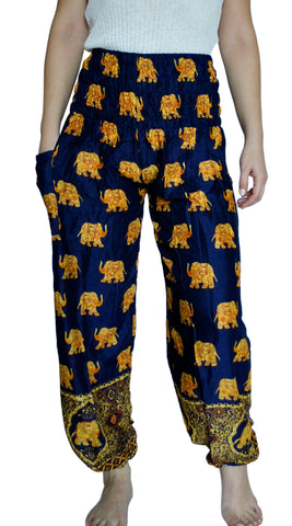 Bodhi Navy Blue Harem Elephant Pants