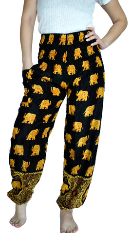 Bodhi Black Harem Elephant Pants