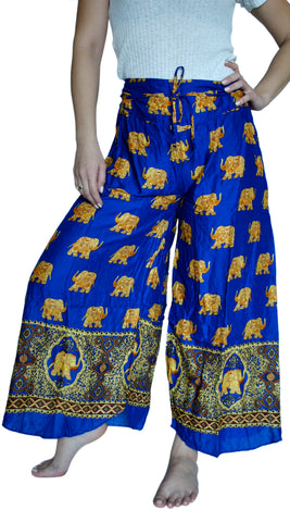 Bodhi Royal Blue Palazzo Elephant Pants