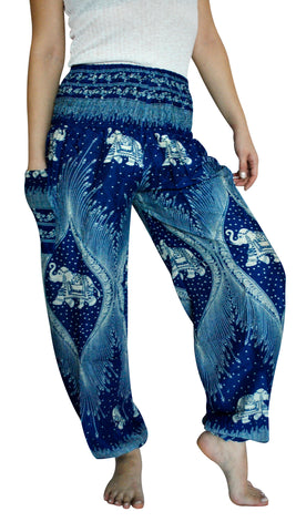 Morni Blue Harem Elephant Pants
