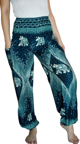 Morni Turquoise Blue Harem Elephant Pants