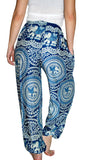 Chakra Royal Blue Elephant Smock Pants