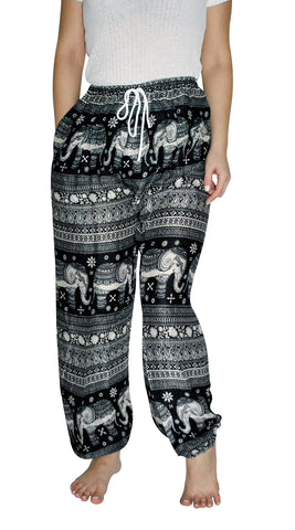 Asana Black Elephant Smock Pants