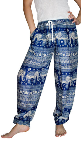 Asana Royal Blue Elephant Smock Pants