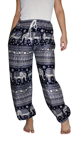 Asana Navy Blue Elephant Smock Pants