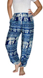 Bhakti Royal Blue Elephant Smock Pants