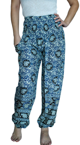 Maya Blue Harem Elephant Pants
