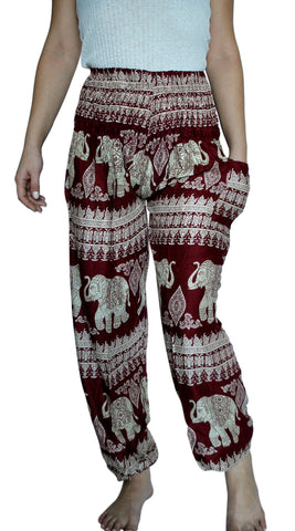 Devi Red Harem Elephant Pants