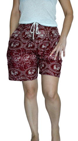 Maharaja Red Elephant Shorts