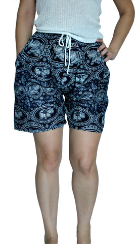 Maharaja Blue Elephant Shorts