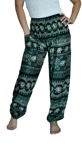 Harmony Green Harem Elephant Pants