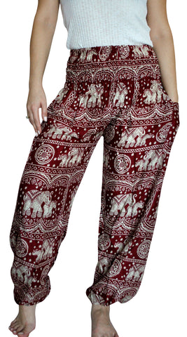 Karuna Red Harem Elephant Pants