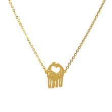 Load image into Gallery viewer, Kissing Giraffes Necklace