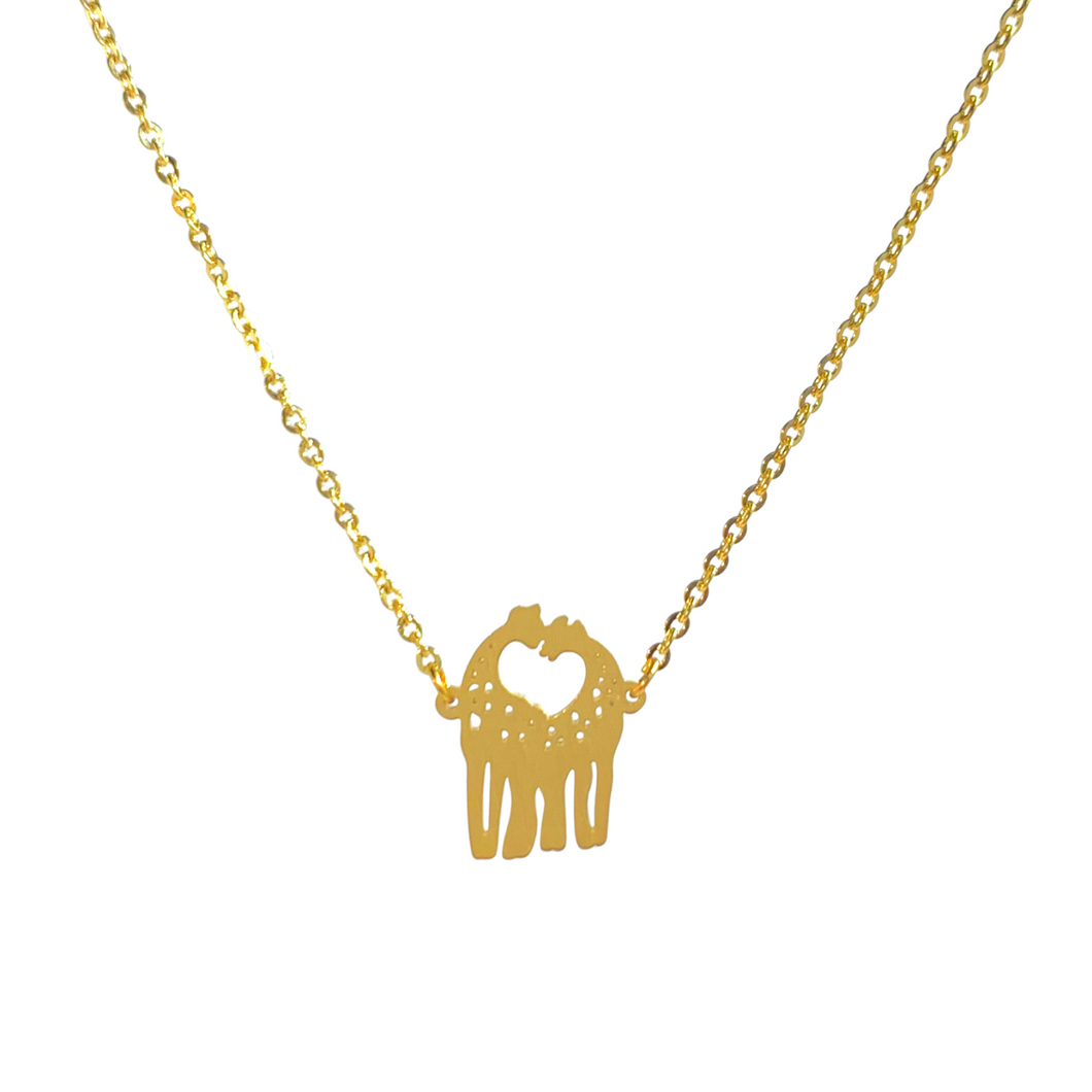 Kissing Giraffes Necklace