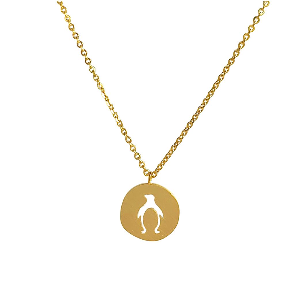 Penguin Coin Necklace