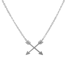 Load image into Gallery viewer, Crossed Arrows Necklace